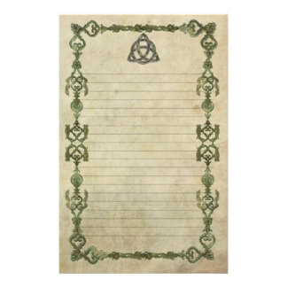 Triquetra Natural Lined Customized Stationery