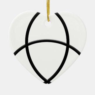 Triquetra-Protection Ceramic Heart Decoration