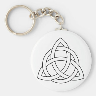Triquetra Symbol Basic Round Button Key Ring