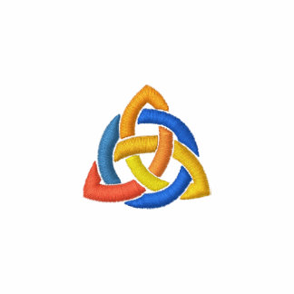 Triquetra - Trinity knot Embroidered Polo Shirts
