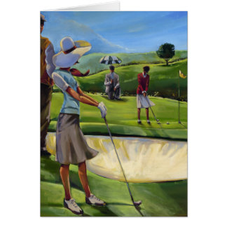 Trish Biddle - Ladies Golf Greeting Card