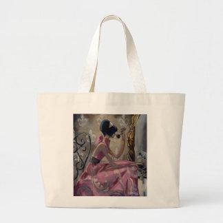 Trish Biddle Powder Pink Vanity Jumbo Tote Bag