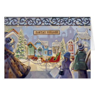 Trish Biddle Santa's Villiage Card