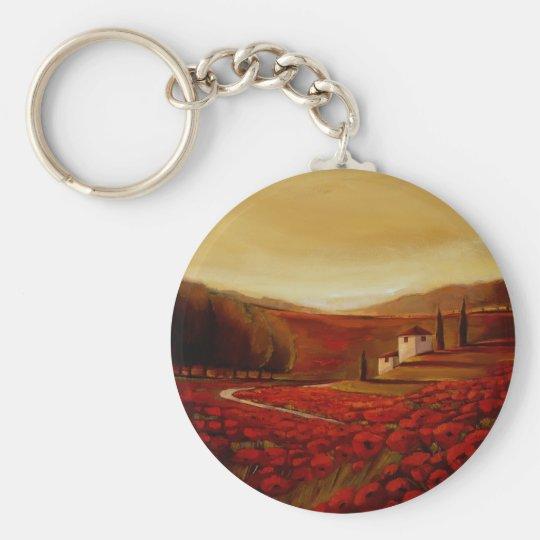 TrishBiddle Tuscan3 Basic Round Button Key Ring