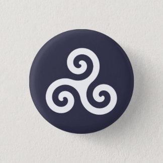 Triskele 3 Cm Round Badge