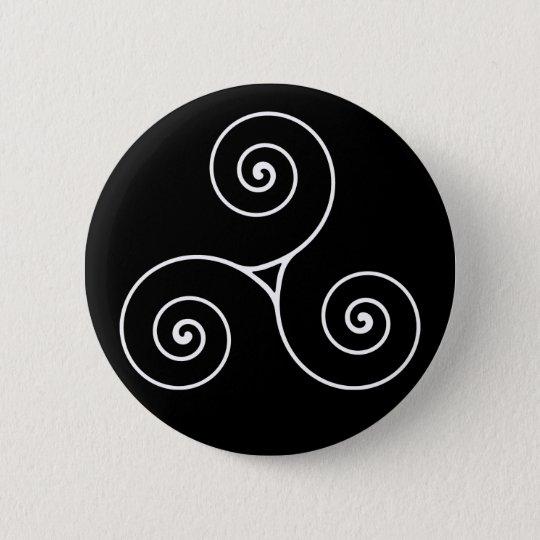 Triskele 6 Cm Round Badge