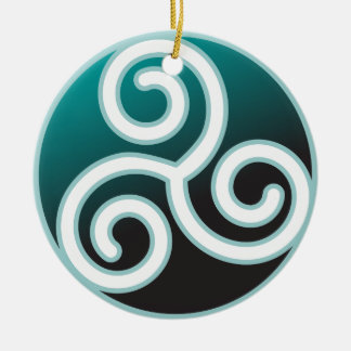Triskele Celtic Spiral Christmas Ornament