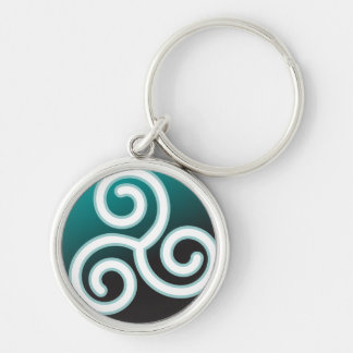 Triskele Celtic Spiral Key Ring