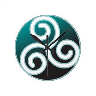 Triskele Celtic Spiral Round Clock