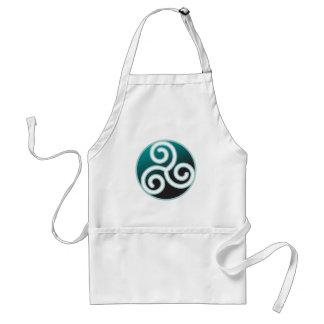 Triskele Celtic Spiral Standard Apron