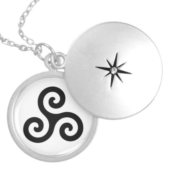 Triskele Locket Necklace