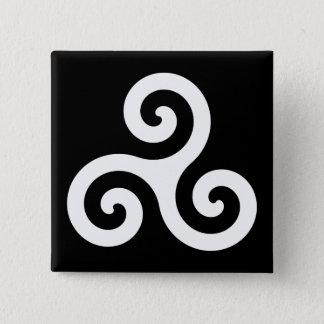 Triskelion 15 Cm Square Badge