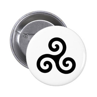 Triskelion 6 Cm Round Badge