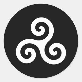 Triskelion Classic Round Sticker