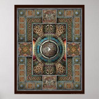 "Triskelion Mandala II Poster (22x28"")"
