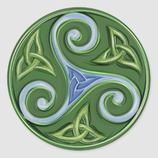 Triskelle Round Sticker