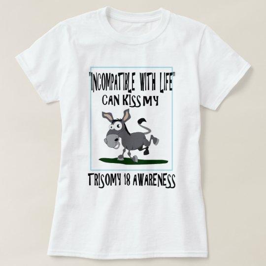 Trisomy 18 Donkey T-Shirt