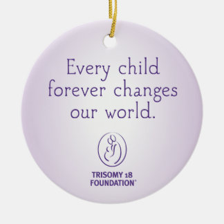 Trisomy 18 Foundation Personalized Purple Ornament