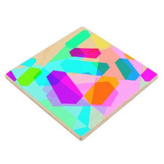 Trispangle Wood Coaster