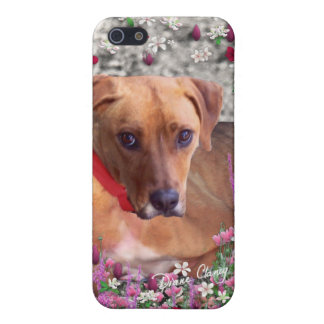 Trista the Rescue Dog in Flowers iPhone 5/5S Cover