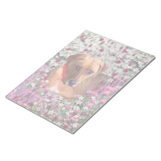 Trista the Rescue Dog in Flowers Memo Pad