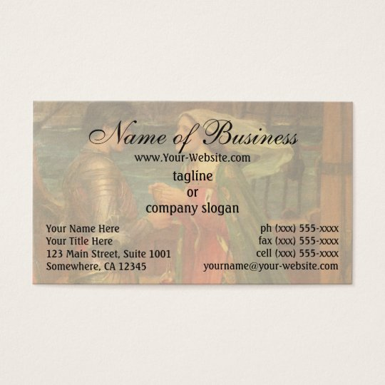Tristan and Isolde by John William Waterhouse Business Card