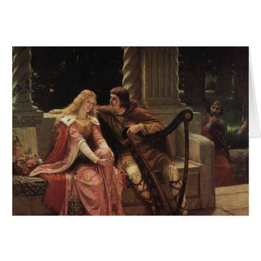 Tristan and Isolde, Edmund Blair Leighton, 1902 Card