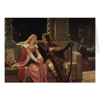 Tristan and Isolde, Edmund Blair Leighton, 1902 Greeting Card