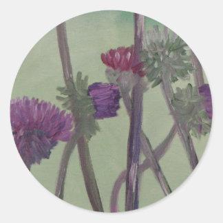 Tristan s Thistles Round Sticker