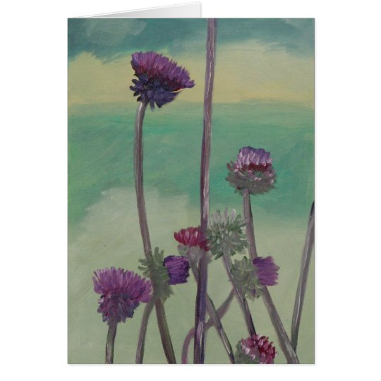 """Tristan's Thistles"" Card"