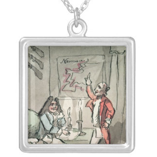 Tristram Shandy, 1786 Silver Plated Necklace