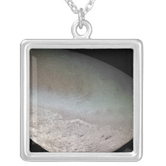Triton, the largest moon of planet Neptune Silver Plated Necklace