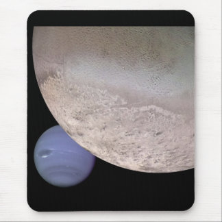 Triton with Neptune in the background NASA Mouse Mat