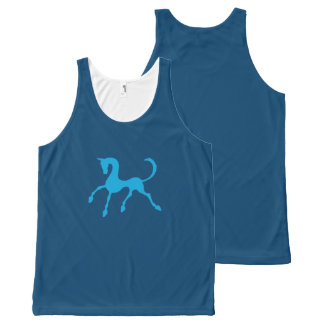 Tritty Foxtrotter Blue All-Over Print Tank Top