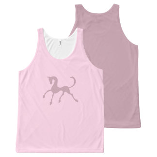 Tritty Foxtrotter Dusky Pinks All-Over Print Tank Top