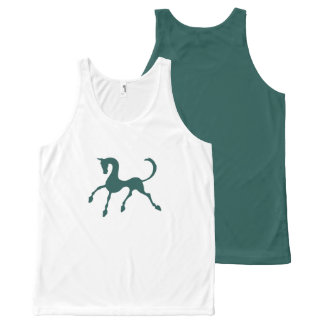 Tritty Foxtrotter Greens All-Over Print Tank Top