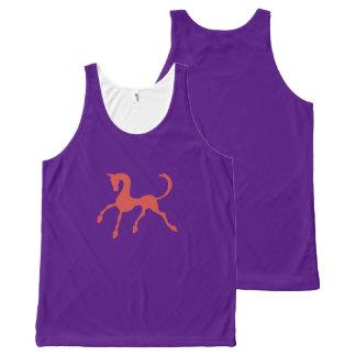 Tritty Foxtrotter Purple All-Over Print Tank Top