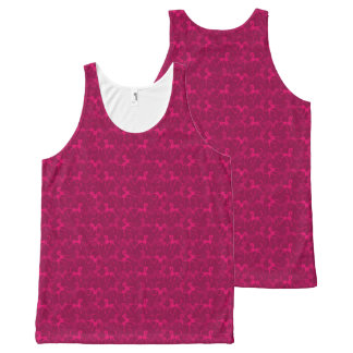 Tritty Foxtrotter RinkydinkPink All-Over Print Tank Top