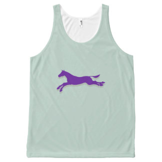 Tritty Trotter Mint and Purple All-Over Print Tank Top