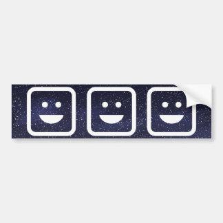 Triumph Emoticons Minimal Bumper Sticker
