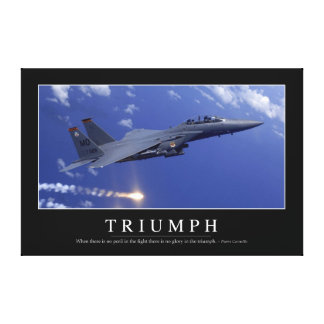 Triumph:: Inspirational Quote 1 Canvas Print