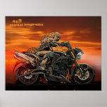 Triumph Motorcycle Triple Print 26x20''