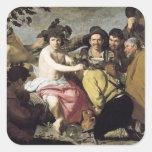 Triumph of Bacchus, 1628 Square Sticker