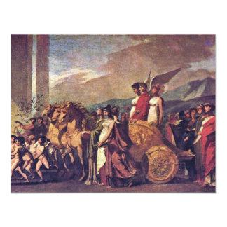 Triumph Of Bonaparte, Or Peace (Sketch) By Prud'Ho 11 Cm X 14 Cm Invitation Card
