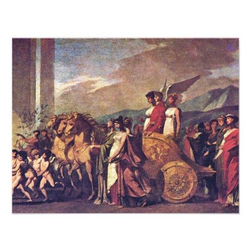 Triumph Of Bonaparte, Or Peace (Sketch) By Prud'Ho Invite