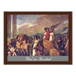 Triumph Of Bonaparte, Or Peace (Sketch) By Prud'Ho Custom Invites