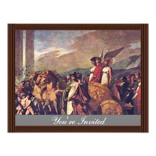 Triumph Of Bonaparte, Or Peace (Sketch) By Prud'Ho Custom Invites