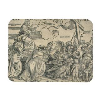 Triumph of Christ (wood engraving) Vinyl Magnets