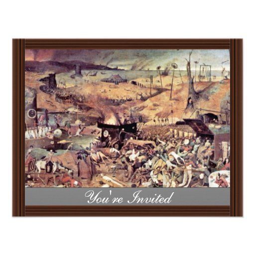 Triumph Of Death By Bruegel D. Ä. Pieter Personalized Invite