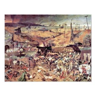 "Triumph Of Death By Bruegel D. Ä. Pieter 4.25"" X 5.5"" Invitation Card"